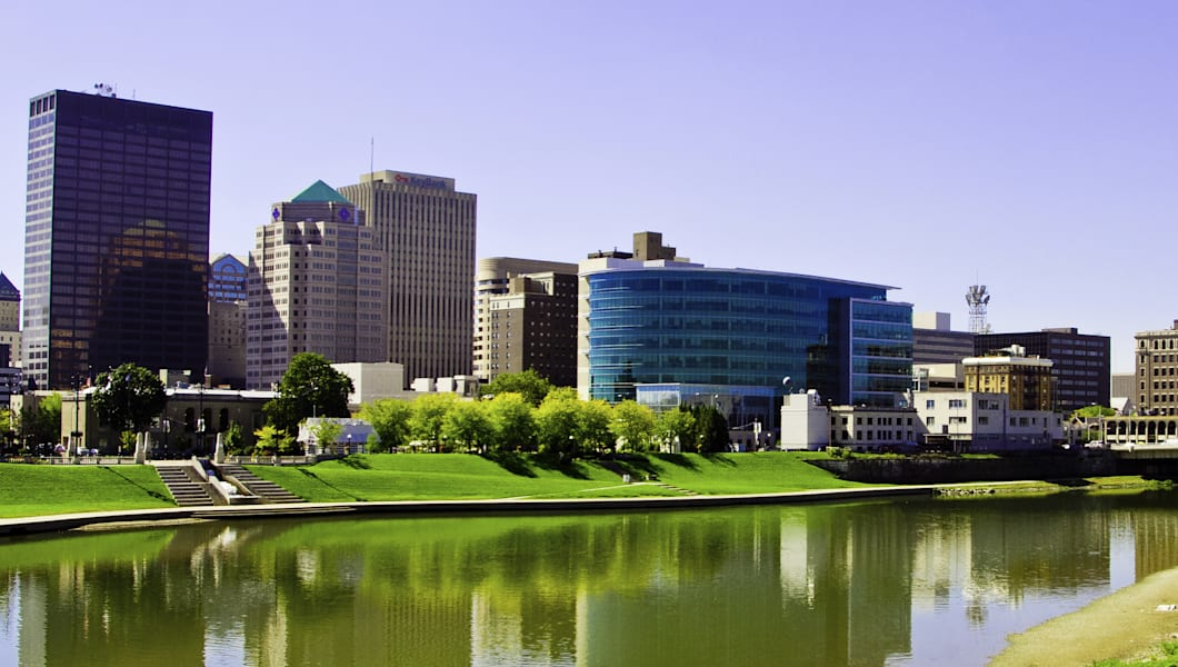 Dayton Ohio Skyline with CareSource in center
