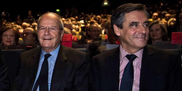 François Fillon et Marc Ladreit de Lacharrière en octobre 2016 à Paris.