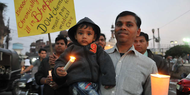 Bhopal gas tragedy survivors and others paying tribute to the victims of the world`s biggest Industrial disaster on the 33rd anniversary of Bhopal gas tragedy, at Iqbal Maidan, on December 2, 2017 in Bhopal.