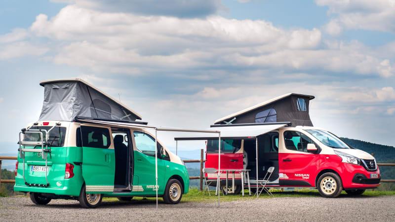 Nissan NV300 and e-NV200 camper vans debut at Madrid Motor