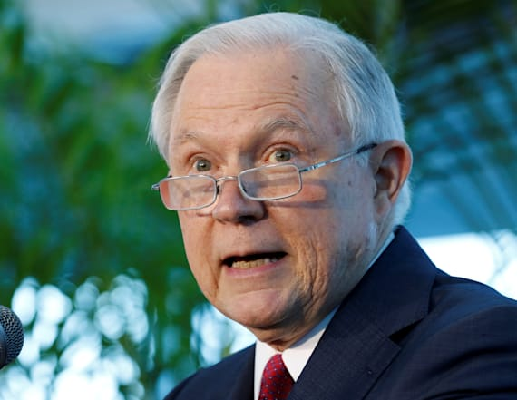 Georgetown students protest Sessions' speech
