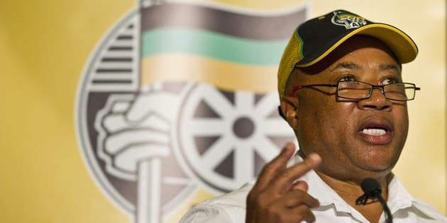 Tony Yengeni at the ANC policy proposal press conference on March 5, 2012 in Johannesburg.