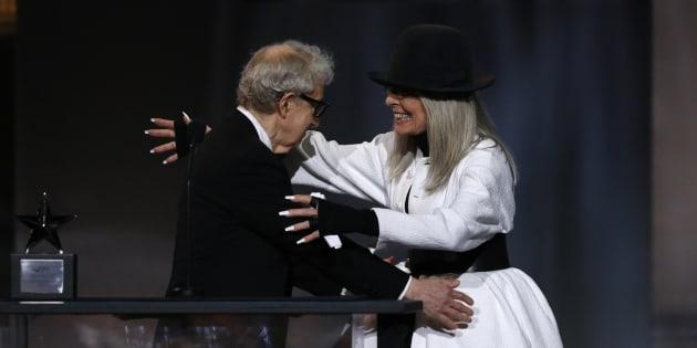 Woody Allen et Diane Keaton lors du American Film Institute Life Achievement Award en 2017. ( Photo: REUTERS/Mario Anzuoni)
