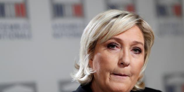 Marine Le Pen à l'Assemblée nationale au mois de janvier.