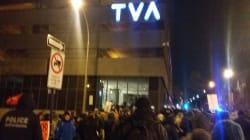 Une manifestation en réaction au reportage de TVA a été organisée à