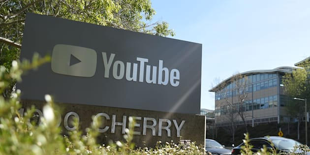 YouTube's headquarters is seen during an active shooter situation in San Bruno, California on April 03, 2018.