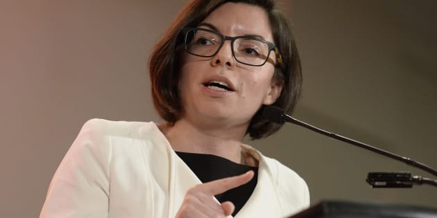 Niki Ashton speaks at the first debate of the federal NDP leadership race in Ottawa on March 12, 2017.