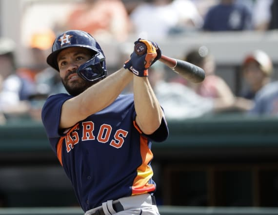 Astros lead spring training in being hit by pitches