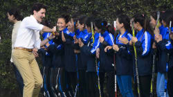Trudeau Meets India's Women's Hockey