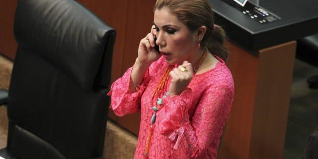 Itzel Sarahí Ríos de la Mora, senadora por el Partido Revolucionario Institucional. La senadora usó un boleto de avión de 141 mil 94 pesos y recibió viáticos por 62 mil 960.95 pesos para participar en un foro.