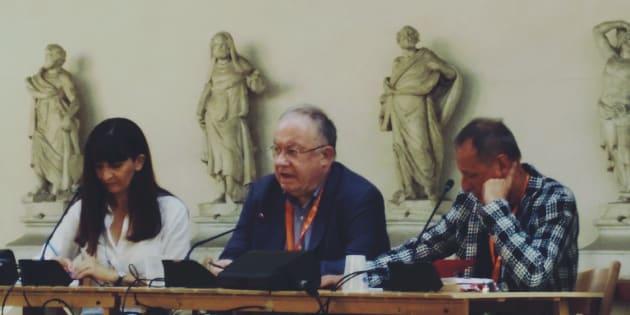 Oliver Roy durante l'incontro di presentazione del suo libro al Festivaletteratura di Mantova