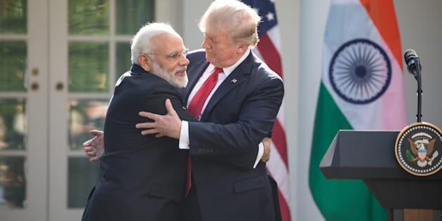 President Donald Trump and Prime Minister Narendra Modi of India, held a joint press conference in the Rose Garden of the White House.