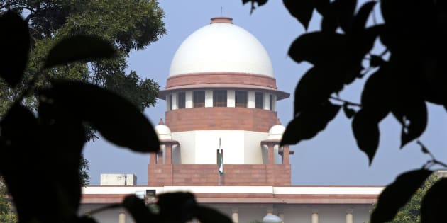 A view of the Indian Supreme Court building.