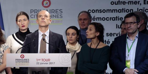 Thomas Clay, président de la Haute autorité (à gauche) et Christophe Borgel, président du comité d'organisation de la primaire.