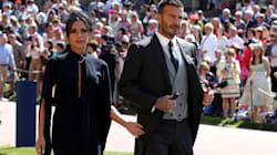 Victoria Beckham se ve extremadamente feliz de asistir a la boda