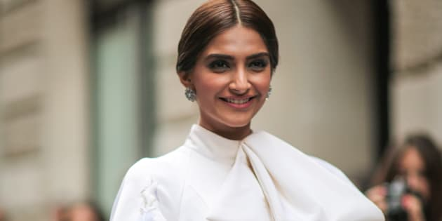 PARIS, FRANCE - JULY 04:  Sonam Kapoor is seen, before the Ralph & Russo show, during Paris Fashion Week Haute Couture F/W 2016/2017, on July 4, 2016 in Paris, France.  (Photo by Edward Berthelot/Getty Images)
