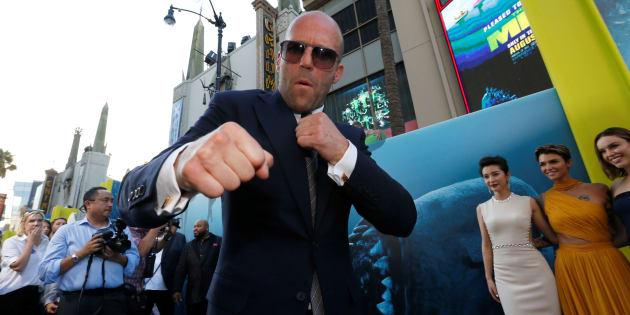 Jason Statham posa en el estreno de 'Megalodón', el 6 de agosto de 2018.