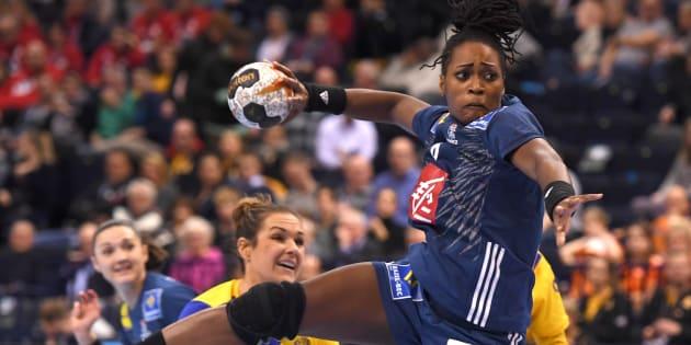 Laurisa Landre lors de Suède-France le 15 décembre 2017.