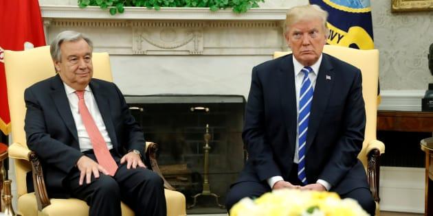 Antonio Guterres met Donald Trump last week, and we're not sure either man was impressed.