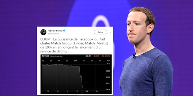 """Facebook se met aux """"rencontres"""", le cours du groupe détenant Meetic et Tinder s'effondre en Bourse"""