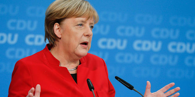 La chancelière allemande Angela Merkel en conférence de presse à Berlin, le 20 novembre 2016.