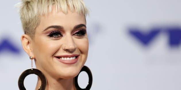 Katy Perry el 27 de agosto de 2017 en los MTV Video Music Awards celebrados en Inglewood, California.