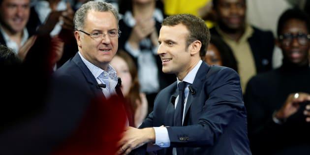 Emmanuel Macron et Richard Ferrand à Paris le 10 décembre 2016.