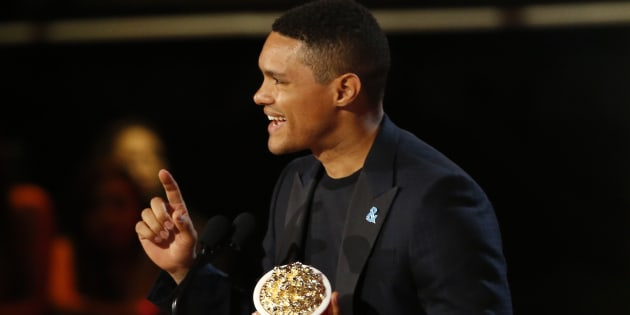 Trevor Noah accepts his 2017 MTV Movie and TV Award for best host in Los Angeles, Unites States, in May.