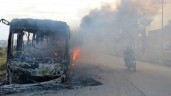Gunmen Burn Buses To Stall Aleppo