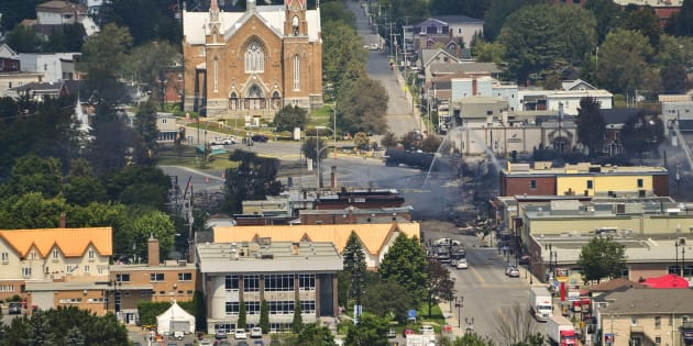 Photo d'archives de Lac-Mégantic au lendemain de la tragédie.