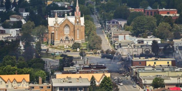 La ville de Lac-Mégantic en 2013.