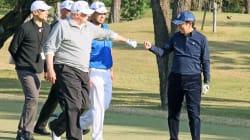 Donald Trump au Japon, bien content de perpétuer la diplomatie par le