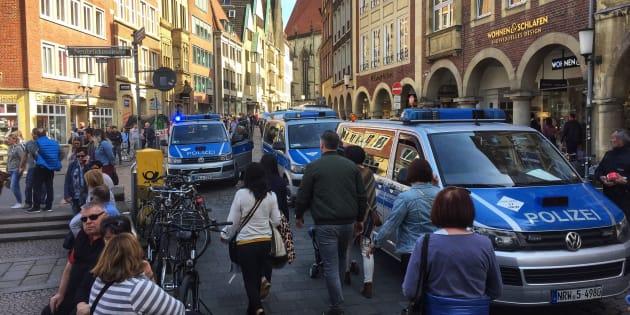 Münster: le lieu du drame, une place fréquentée très prisée des habitants