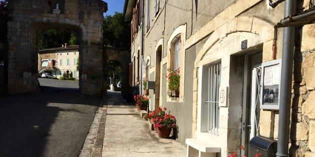 La rue du Barrérat à Saint-Martory.