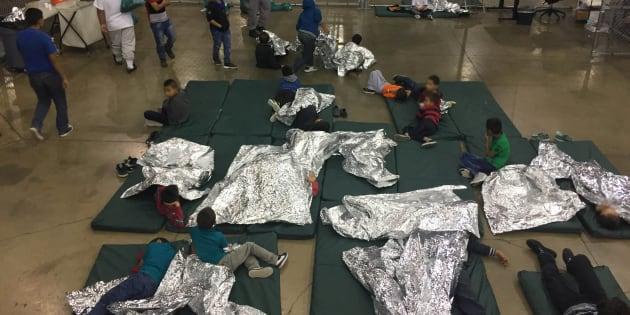 Un refuge d'enfants migrants à Rio Grande Valley.
