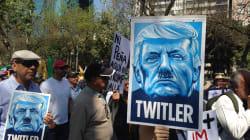 La marcha contra Trump que reflejó la división de los