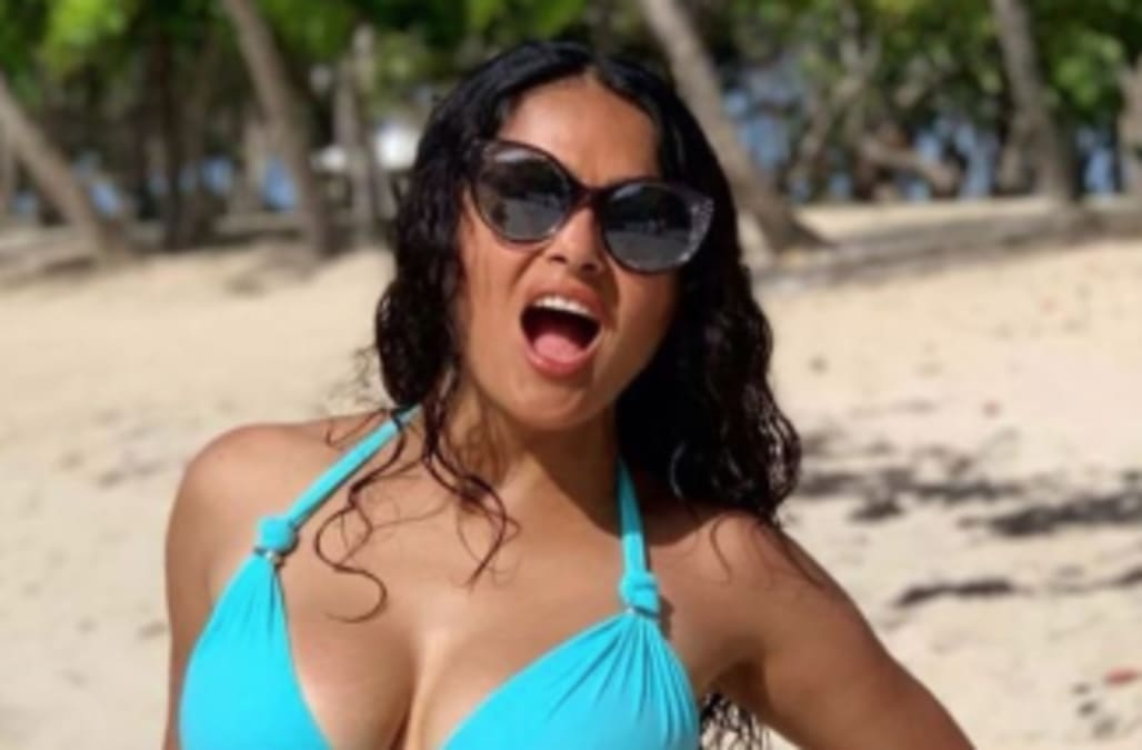 Salma Hayek celebrates 53rd birthday with bikini snap
