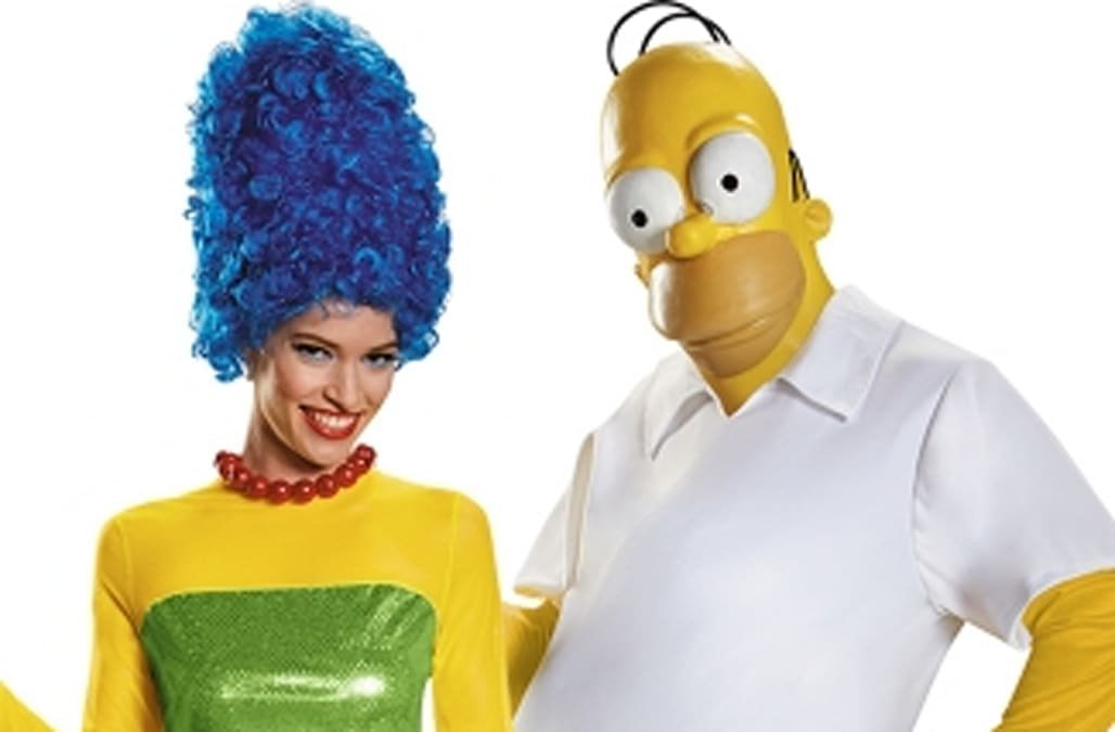like marge and homer wine and cheese and mr and mrs potato head so why should halloween