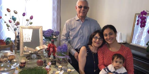 The Shafaee family celebrating Nowruz last year.