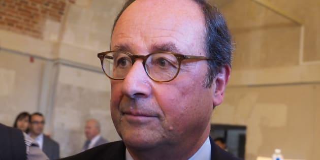 François Hollande lors des Rendez-vous de l'Histoire de Blois le 14 octobre 2018.