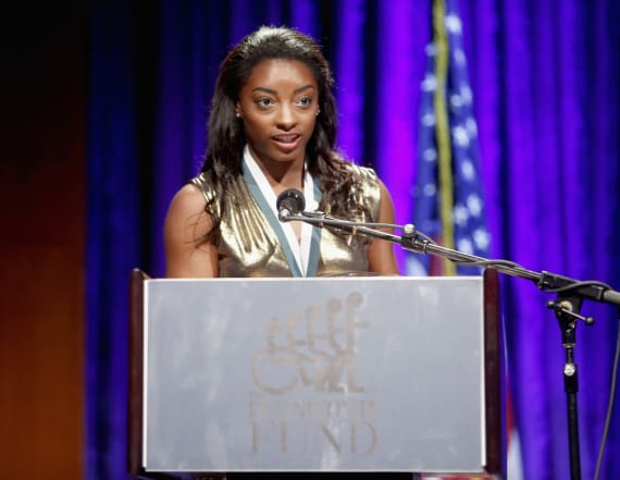 Olympic gymnast Simone Biles opens up about abuse