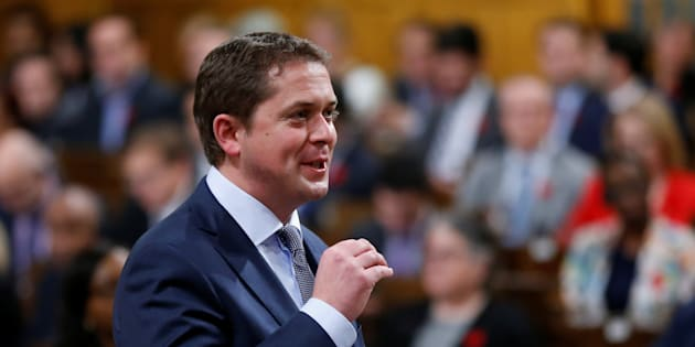 Conservative leader Andrew Scheer speaks during Question Period in the House of Commons on Oct. 31, 2017.