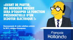 Les Simpson s'immiscent dans la campagne présidentielle avec