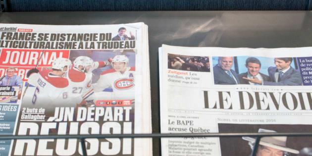 Québec dévoile une série de mesures d'aide à la presse écrite
