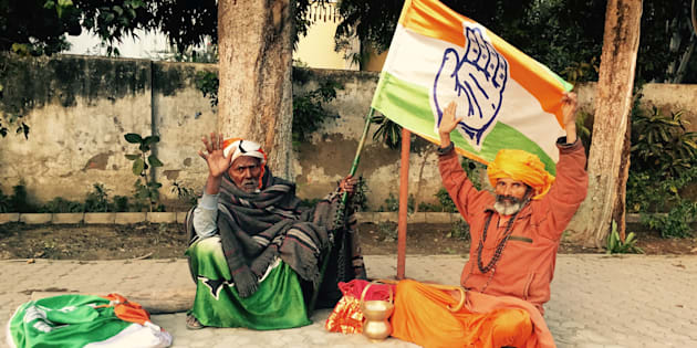Ramnath (left) claims that he is responsible for giving the Congress Party its hand symbol.