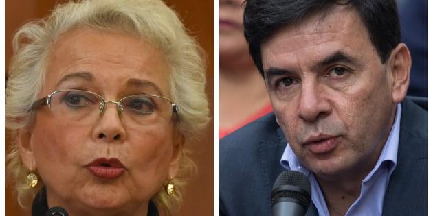 La titular de la Secretaría de Gobernación, Olga Sánchez Cordero, y el vocero de la Presidencia, Jesús Ramírez Cuevas, fueron cuestionados por su declaración de bienes y estos a su vez culparon al sistema de la SFP.