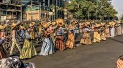 La primera parte del desfile de Día de Muertos en Ciudad de