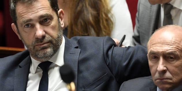 Castaner tacle Collomb (ici en avril 2018) et annonce qu'il ne sera pas candidat à Marseille