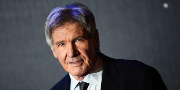 """Harrison Ford à la première de """"Star Wars: Le Réveil de la Force"""" à Londres le 16 décembre 2015."""