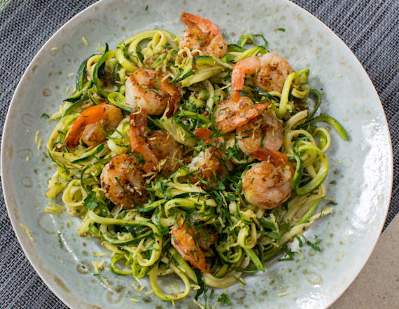 Best Bites: Lemon garlic butter shrimp with zoodles